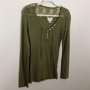 Ralf Lauren   Denim & Supply Long Sleeve Knit Top